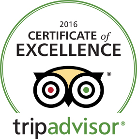 Foxberry Inn TripAdvisor Certificate of Excellence 2016